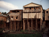 River Front Dwellings, Manaus, Amazonas, Brazil, South America Photographic Print by Rob Cousins