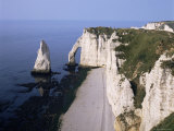 White Chalk Cliffs, Etretat, Cote d'Albatre (Alabaster Coast), Haute Normandie (Normandy), France Photographic Print by Philip Craven