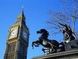 Boadicea (Boudicca) and Big Ben, London, England, United Kingdom Photographic Print by Ethel Davies