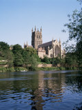 Worcester Cathedral and the River Severn, Worcester, Hereford and Worcester, England Photographic Print by Philip Craven
