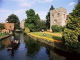Punting on the River Stour, Canterbury, Kent, England, United Kingdom, Photographic Print