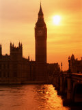 Big Ben and Houses of Parliament, Unesco World Heritage Site, London, England Photographic Print by Kathy Collins