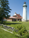 Seul Choix Lighthouse, Michigan, USA Photographic Print by Ethel Davies