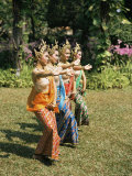 Thai Dancing, Oriental Gardens, Bangkok, Thailand, Southeast Asia Photographic Print by Philip Craven
