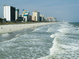 Seashore, Myrtle Beach, South Carolina, USA Photographic Print by Ethel Davies