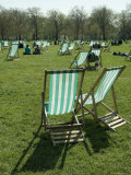 Deck Chairs, Green Park, London, England, United Kingdom Photographic Print by Ethel Davies