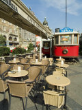Cafe on Wenceslas Square, Prague, Czech Republic Photographic Print by Ethel Davies