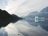 Icebergs in Glacier Lake, Torres Del Paine, Chile, South America Photographic Print by Mark Chivers