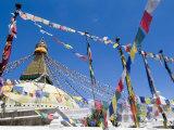 Boudhanath (Bodhnath) Stupa, Unesco World Heritage Site, Kathmandu, Nepal Photographic Print by Ethel Davies