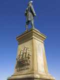 Statue of Captain James Cook, Seafront, Whitby, North Yorkshire, Yorkshire, England Photographic Print by Neale Clarke