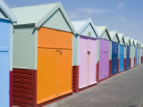 Beach Huts, Hove, Sussex, England, United Kingdom Photographic Print by Ethel Davies