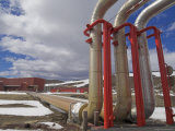 Krafla Geothermal Power Station, Kroflustod, Near Lake Myvatn, North Area, Iceland, Polar Regions Photographic Print by Neale Clarke