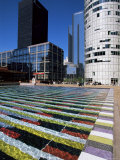 Coeur Defense and Coloured Pool, La Defense, Paris, France Photographic Print by Neale Clarke