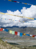 Prayer Flags, Ganden Monastery, Near Lhasa, Tibet, China Photographic Print by Ethel Davies
