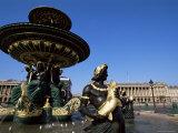 Maritime Fountain, Place De La Concorde, Paris, France Photographic Print by Neale Clarke