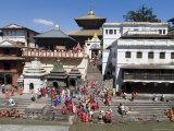 Hindu Festival, Pashupatinath Temple, Kathmandu, Nepal Photographic Print by Ethel Davies