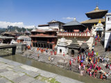 Hindu Festival, Pashupatinath Temple, Kathmandu, Nepal Photographic Print by Ethel Davies
