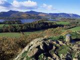 Keswick from Castle Head, Borrowdale, Lake District, Cumbria, England, United Kingdom Fotoprint van Neale Clarke