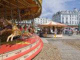 Carousel on Brighton Beach, Brighton, Sussex, England, United Kingdom Photographic Print by Ethel Davies