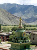 Stupa, Samye Monastery, Tibet, China,Asia Photographic Print by Ethel Davies