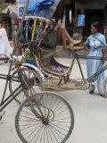 Rickshaw, Durbar Square, Kathmandu, Nepal Photographic Print by Ethel Davies