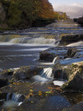 Lower Aysgarth Falls and Autumn Colours Near Hawes, Yorkshire Dales National Park, Yorkshire Photographic Print by Neale Clarke