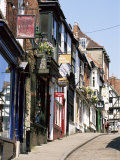 Shop Signs, Steep Hill, Lincoln, Lincolnshire, England, United Kingdom Photographic Print by Neale Clarke