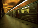 Metro Platform, Namesti Republiky, Prague, Czech Republic Photographic Print by Neale Clarke