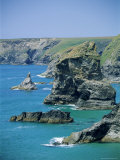 Rock Stacks, Bedruthan, Cornwall, England, United Kingdom Photographic Print by Neale Clarke