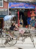 Rickshaw, Thamel Area, Kathmandu, Nepal Photographic Print by Ethel Davies