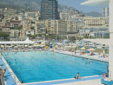 Stade Nautique Rainier III (Huge Public Swimming Pool), Condamine, Monaco Photographic Print by Ethel Davies