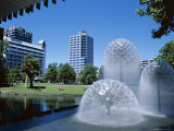 Town Hall Fountain, Christchurch, Canterbury, South Island, New Zealand Photographic Print by Neale Clarke
