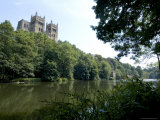 Cathedral Overlooking River Wear, Unesco World Heritage Site, Durham, County Durham, England Photographic Print by Ethel Davies