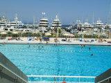 Stade Nautique Rainier III (Huge Public Swimming Pool), Condamine, Monaco Photographic Print by Ethel Davies