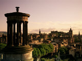 Stewart Memorial and City, Edinburgh, Lothian, Scotland, United Kingdom Photographic Print by Neale Clarke