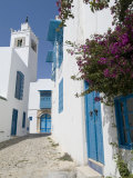 Sidi Bou Said, Tunisia, North Africa, Africa Fotografisk tryk af Ethel Davies