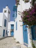 Sidi Bou Said, Tunisia, North Africa, Africa Fotografisk tryk af Ethel Davies
