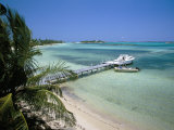 Beach and Jetty, Near Georgetown, Exuma, Bahamas, West Indies, Central America Photographic Print by Ethel Davies