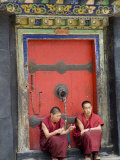 Tashilumpo Monastery, the Residence of the Chinese Appointed Panchat Lama, Tibet, China Photographic Print by Ethel Davies