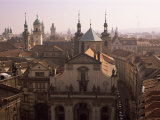 Klementinum Rooftop View, Krizovnicke Namesti, Prague, Czech Republic Photographic Print by Neale Clarke
