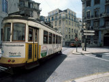 Tram in the Baixa District, Lisbon, Portugal Photographic Print by Neale Clarke