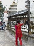 Swayambhunath (Monkey Temple), Kathmandu, Nepal Photographic Print by Ethel Davies