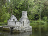 Monks Fishing House, Cong Abbey, County Mayo, Connacht, Republic of Ireland Fotoprint van Gary Cook