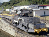 Locomotives Used to Pull Ships Through the Locks, Panama Canal, Panama, Central America Photographic Print by Mark Chivers