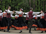 Traditional Latvian Folk Dancing, Near Riga, Baltic States Photographic Print by Gary Cook