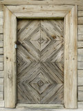 Door Detail of a Traditional Lithuanian Farmstead from the Zemaitija Region, Rumsiskes, Lithuania Photographic Print by Gary Cook