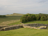 Roman Wall at Housesteads Fort Looking East to Sewing Shields Crags, Hadrian's Wall, England Photographic Print by James Emmerson