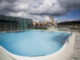 Roof Top Pool in New Royal Bath, Thermae Bath Spa, Bath, Avon, England, United Kingdom Photographic Print by Matthew Davison