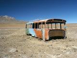 Bus Wreck, Near Chilean Border, Salar De Uyuni, Bolivia, South America Photographic Print by Mark Chivers