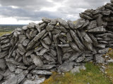 Dry Stone Wall on the Burren, County Clare, Munster, Republic of Ireland Photographic Print by Gary Cook